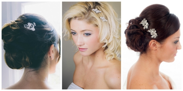 bridesmaids wedding hair pins
