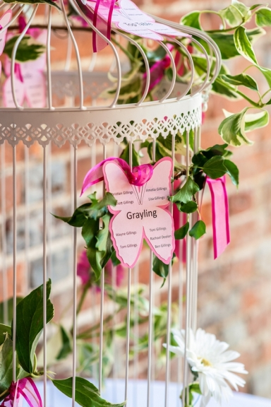 Butterfly Themed Summer Wedding Fushia Pink