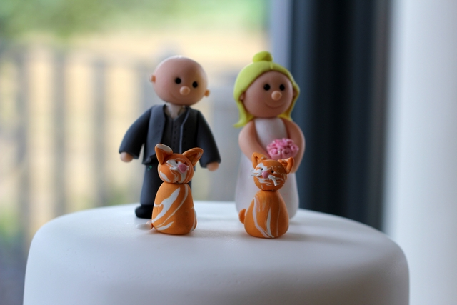 english real wedding fun cake toppers