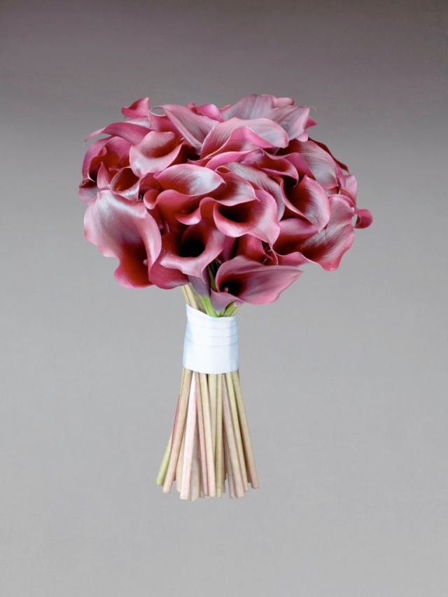 Interflora Vera Wang Wedding Collection - Modern - Purple Calla Lily Large Bridal Bouquet