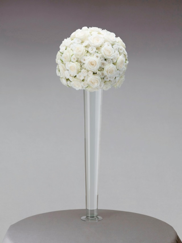 Interflora Vera Wang Wedding Collection - Romantic - White Rose Pedestal Arrangement