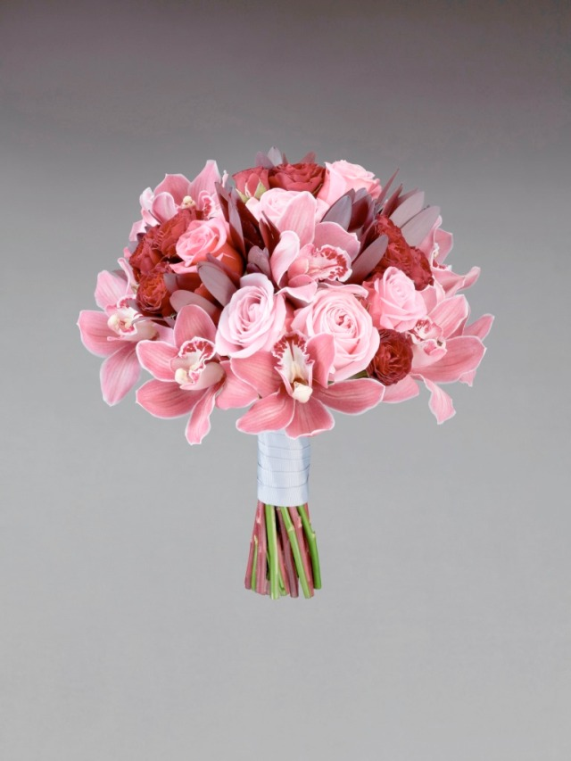 Interflora Vera Wang Wedding Collection - Traditional - Rose and Cymbidium Bridal Bouquet