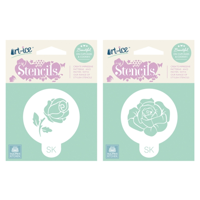 Rose wedding stencils from squires shop