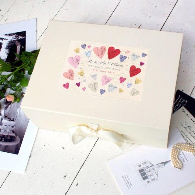 Wedding keepsake personalised wedding album