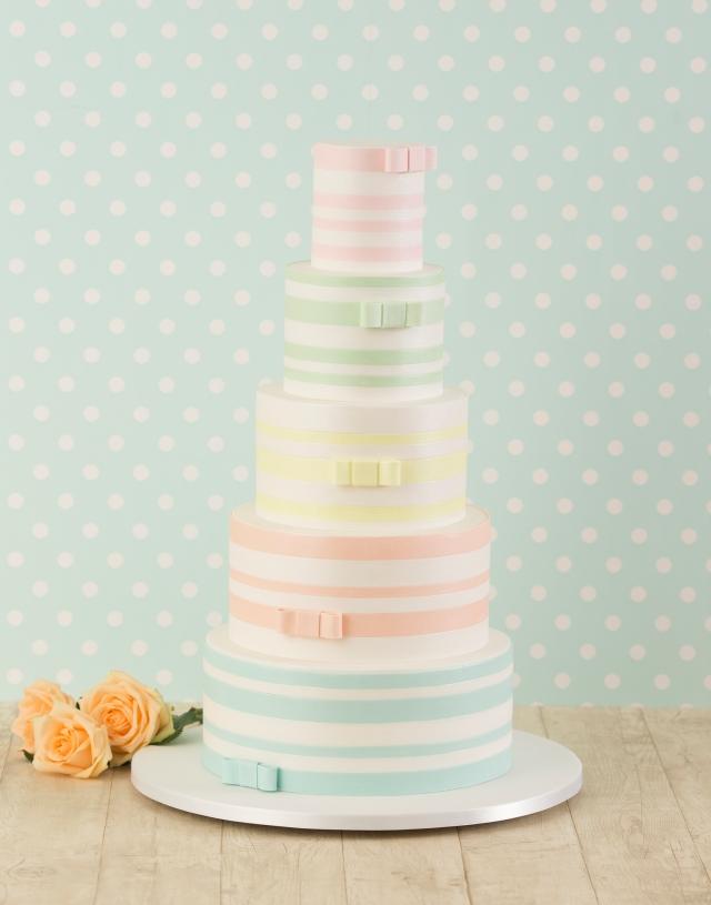 Bellissimo Coloured Wedding Cake