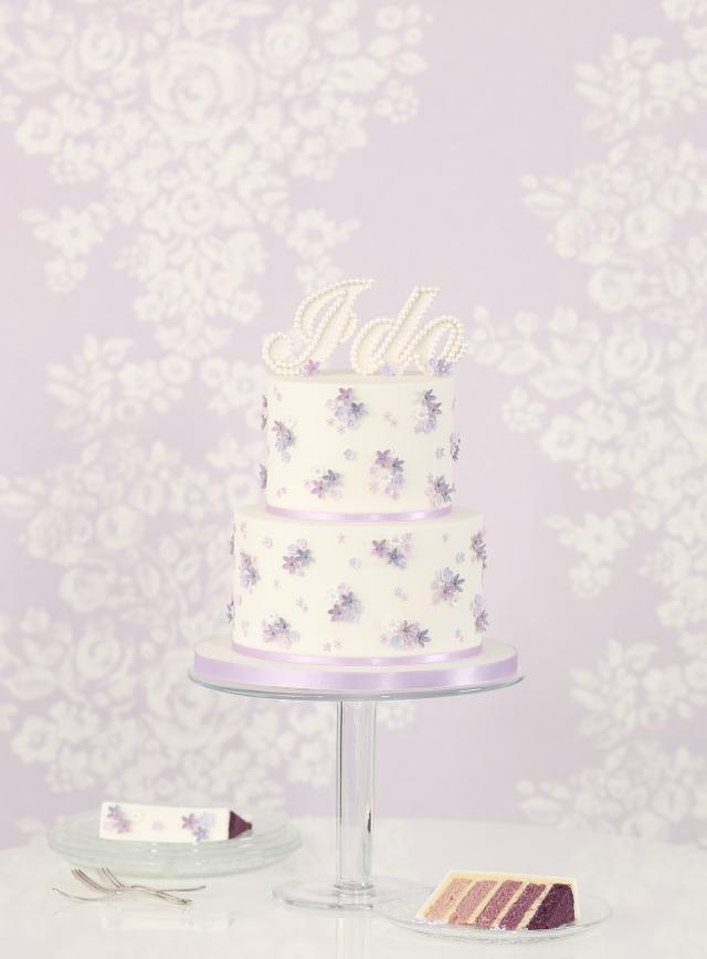 Purple I Do Cake