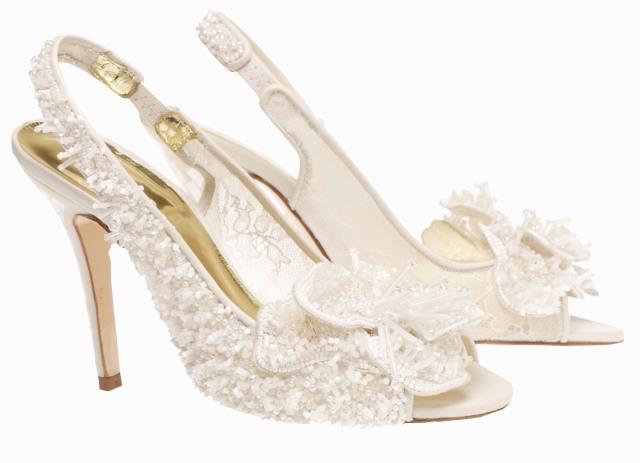 snow Queen freya rose wedding shoes