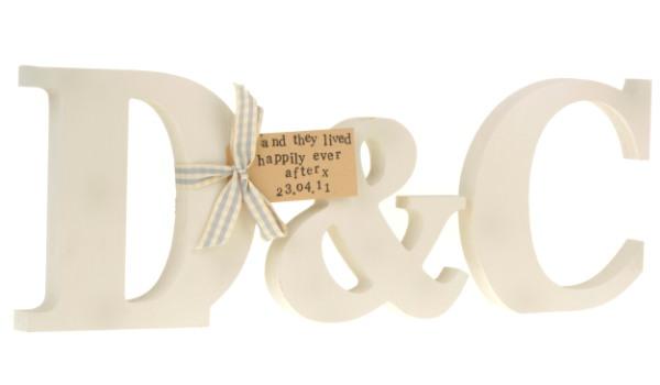 Wedding - Cream initial letters