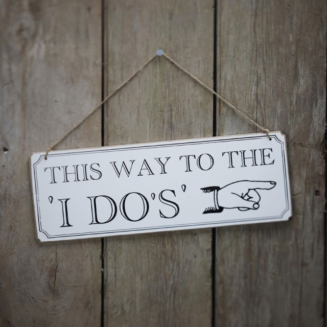 this way to the do wedding sign