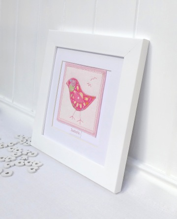Bright Bird Personalised Picture copy