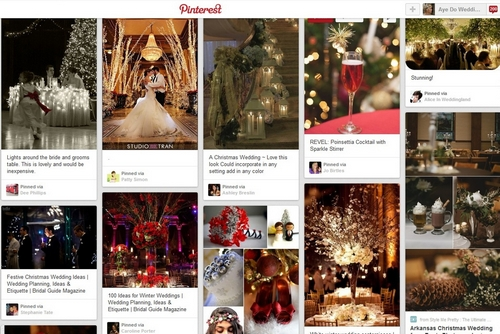 Christmas wedding ideas board