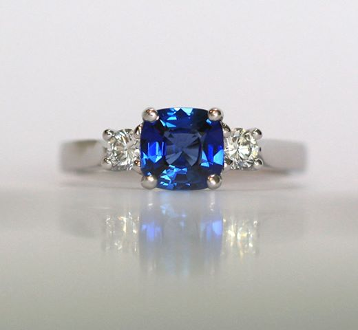 Fairtrade sapphire ring by Erica Sharpe UK
