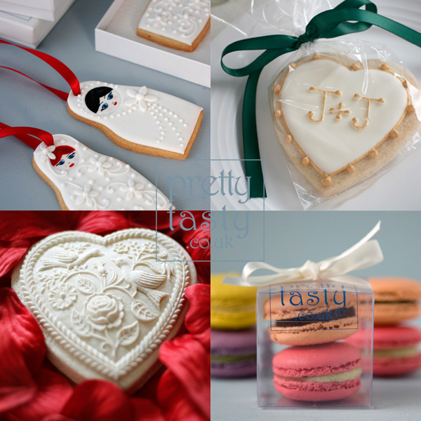 wedding cookie favours - Pretty Tasty
