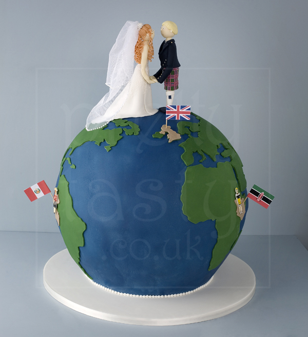 Globe wedding cake by Pretty Tasty