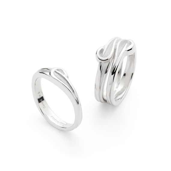 Kerensa - Silver Single Wave and Silver Double Wave by Erica Sharpe UK