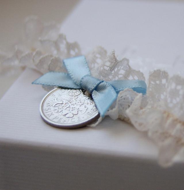 Lucky Sixpence Garter 27.99 handmade in the UK ayedo.co.uk