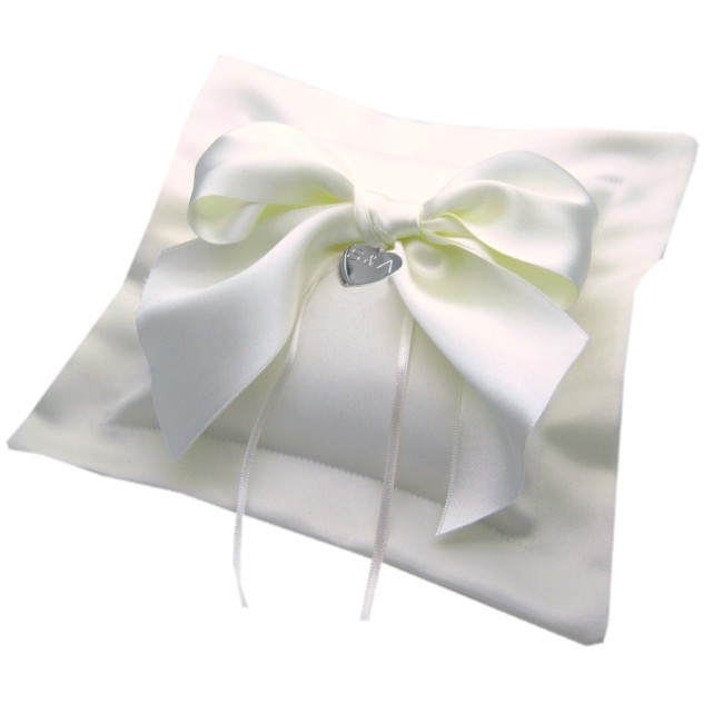 Satin bow mini personalised ring cushions 28.99