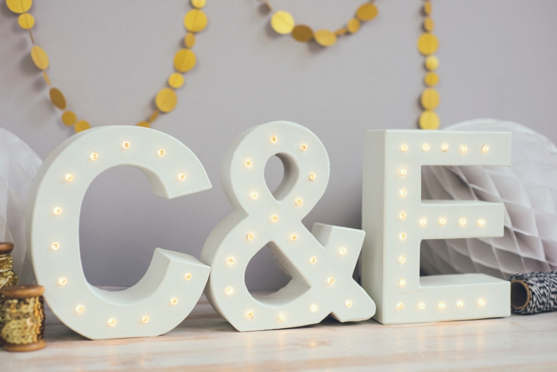 The White BulbFree standing letter lights 175cm