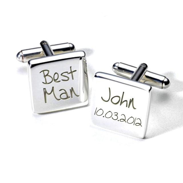 best man personalised wedding cufflinks2WED006.