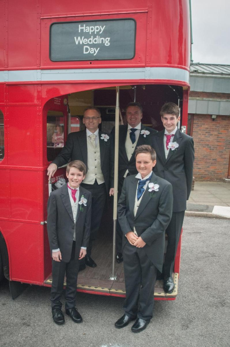 red london bus real life wedding