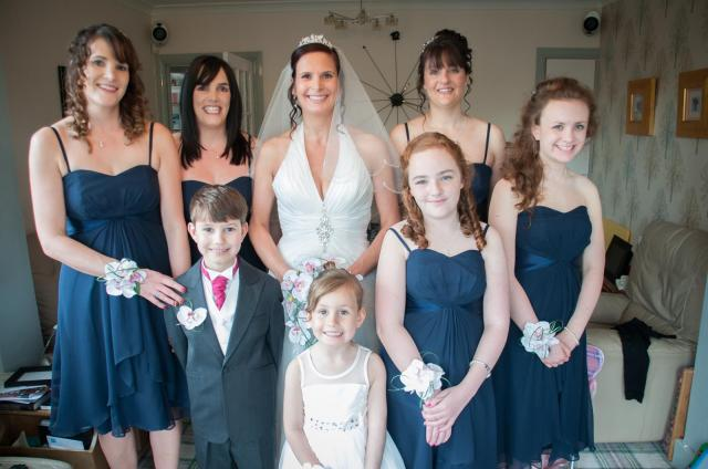 navy bridesmaids UK wedding