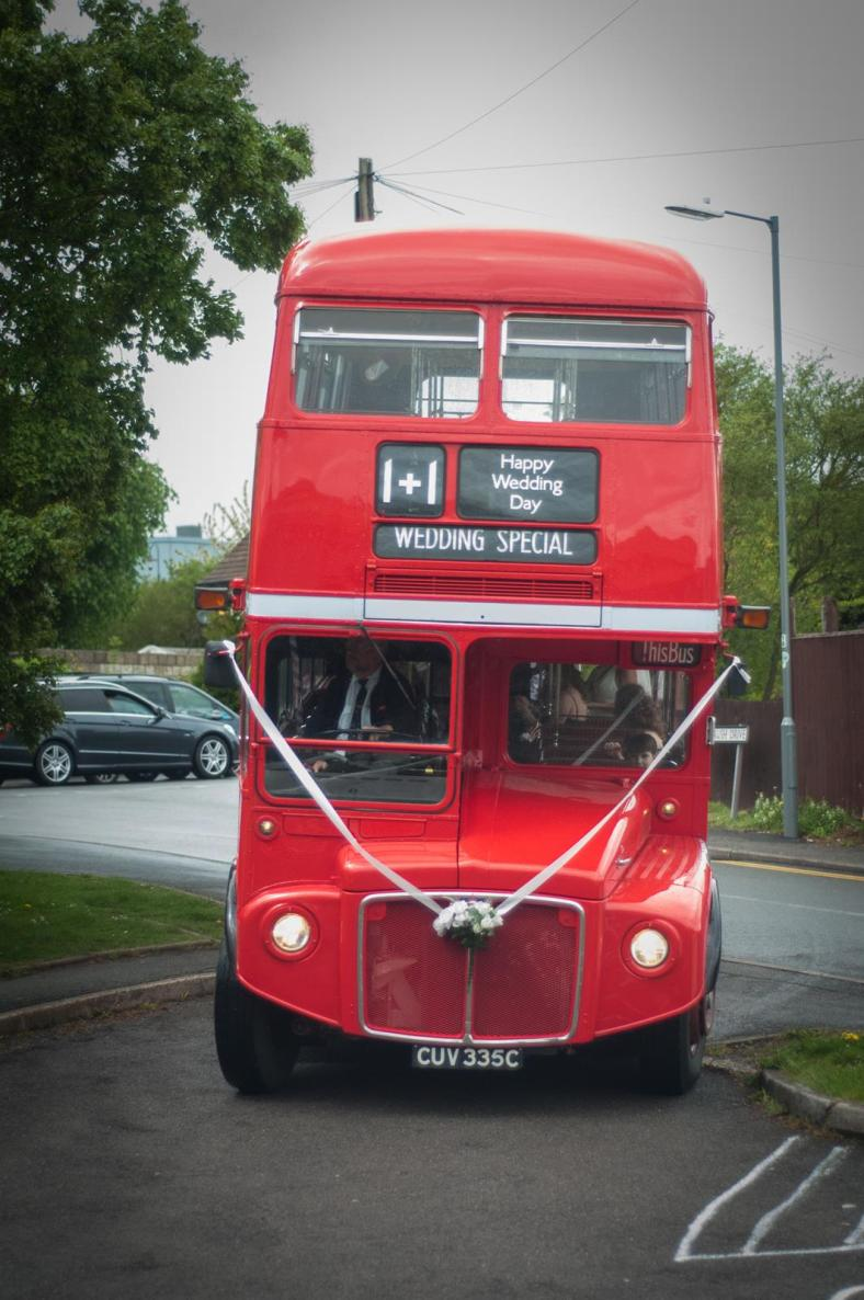 red london bus real life wedding uk
