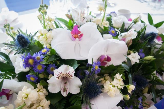 wedding bouquet with orchids