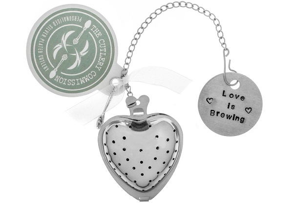 'Love is Brewing' Tea Infuser (£8.50) the cutlery commission