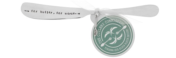 Personalised Butter Knife (£17.00) the cutlery commission UK