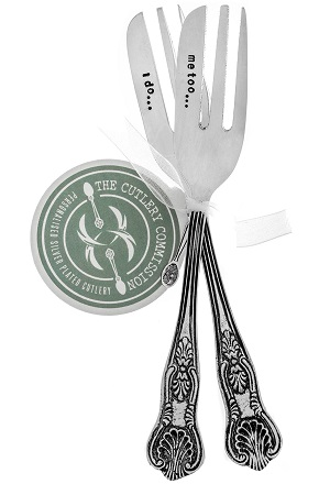 Personalised Cake Fork Set (£28.00) the cutlery commission UK