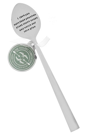 Personalised Spoon Plant Marker (£22.00) the cutlery commission UK