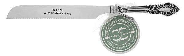 Personalised Wedding Cake Knife (£34.00) the cutlery commission UK