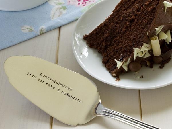 Personalised Wedding Cake Slice (£39.00) the cutlery commission UK