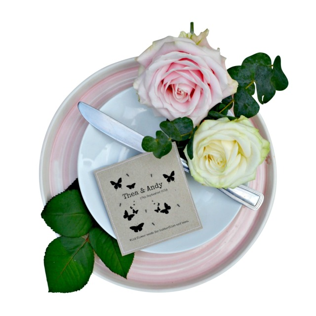 Personalised Wild Flower Favours  - set of 50