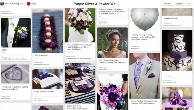 purple pinterest wedding ideas