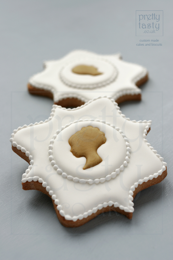 Silhouette Biscuit wedding favours by pretty tasty UK
