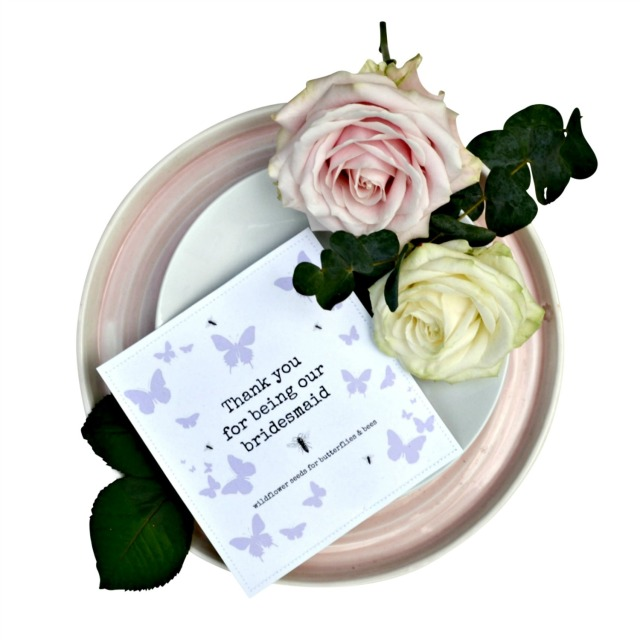 Thank You Bridesmaid Plantable Gift Set