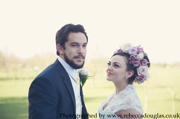Wedding ideas inspiration Northdown House lace floral crown smoke bomb Margate Kent by Rebecca Douglas Photography029 copy