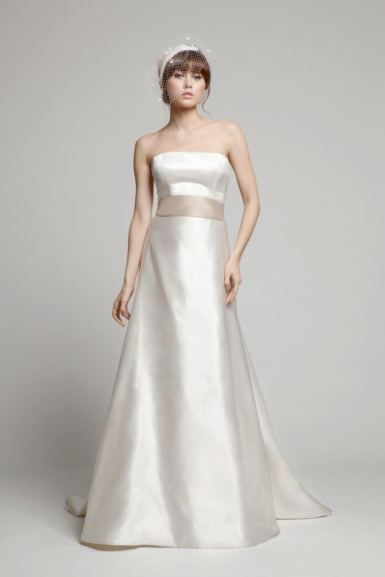 aimee satin wedding dress uk melanie potrot