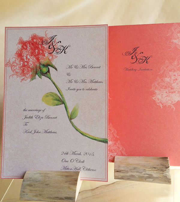 poinsettia wedding stationery http://www.thefrommshoppe.com/
