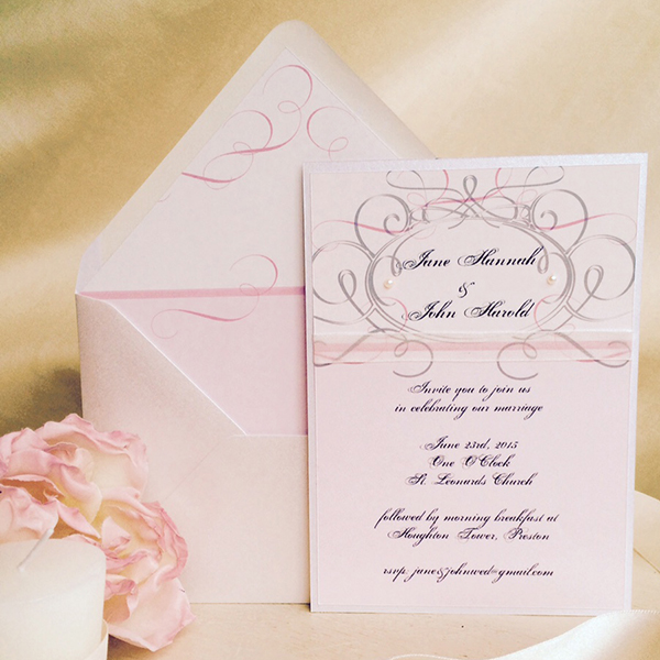 ribbon pink wedding stationery http://www.thefrommshoppe.com/