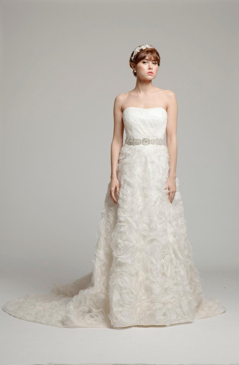 rose lace wedding dress UK melanie potro