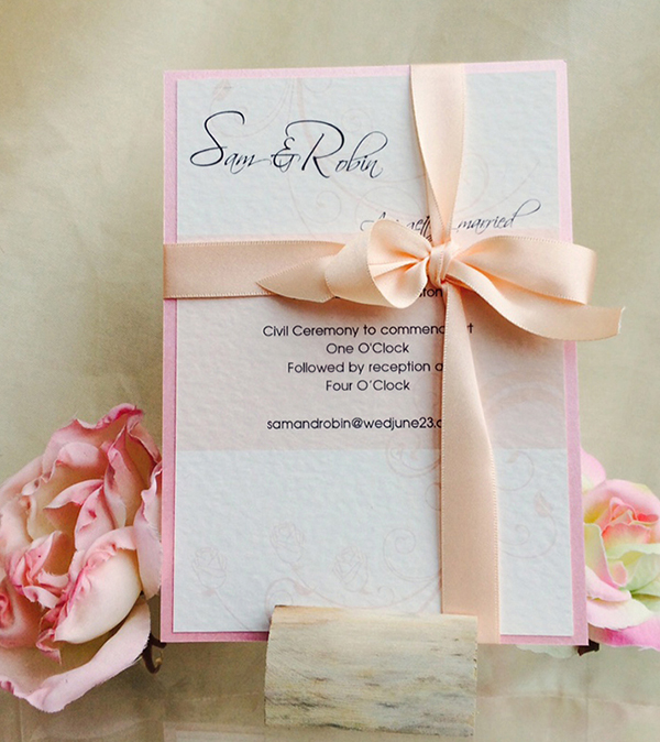 rose pink wedding stationery http://www.thefrommshoppe.com/