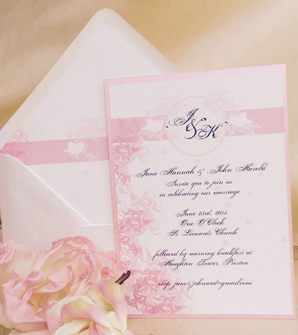 vic pink rustic wedding stationery http://www.thefrommshoppe.com/