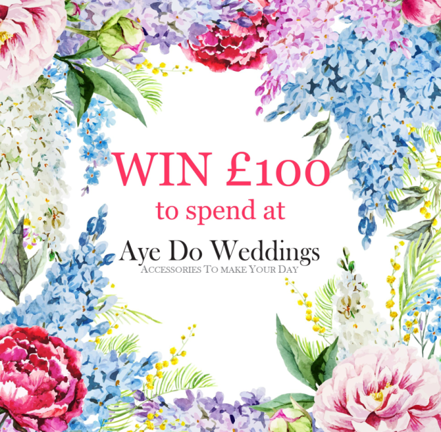 win £100 of wedding accessories from ayedoweddings.co.uk